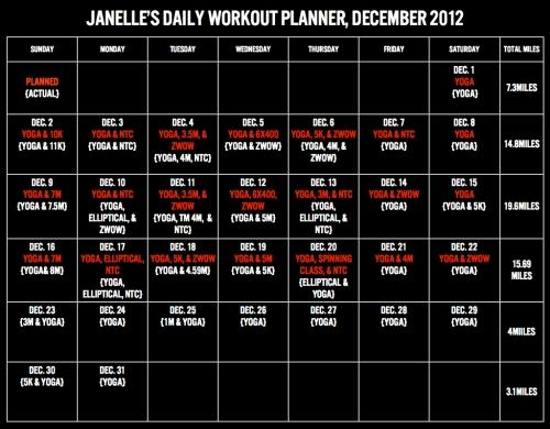 Workout Planner, Dec.001