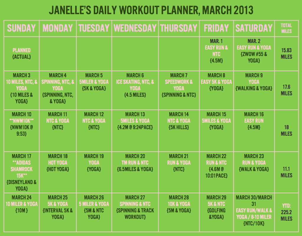 Workout Planner, March 2013.001