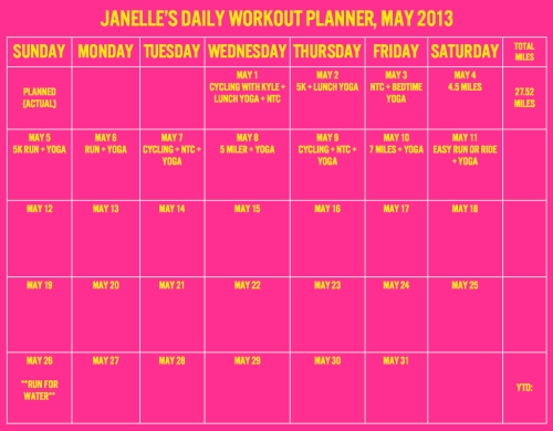 Workout Planner, May 2013.001