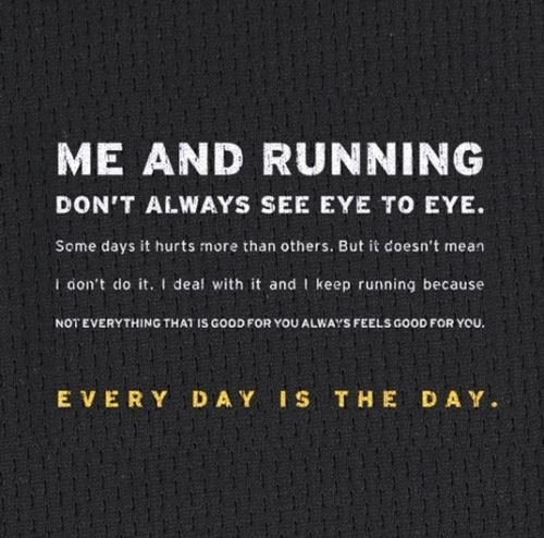 me & running don't always see eye to eye