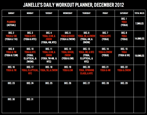 Workout Planner, Dec.001