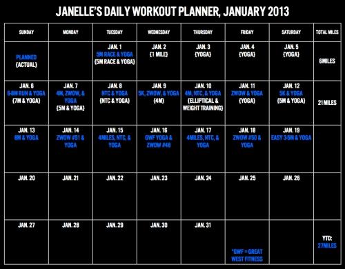 Workout Planner, Jan.001