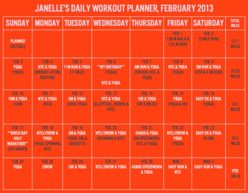 Workout Planner, Jan.001