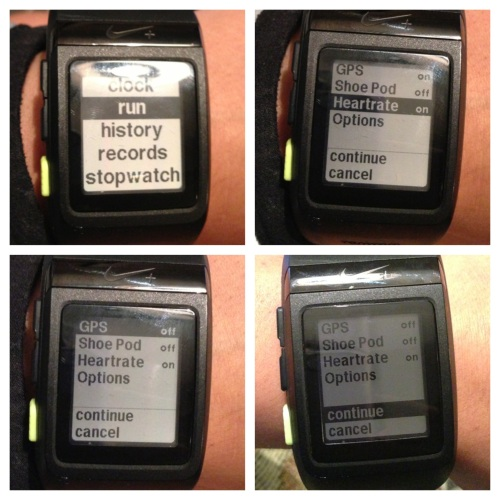 Nike+ Sportwatch GPS  --> Heart Rate Monitor