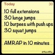 10 Minute AMRAP