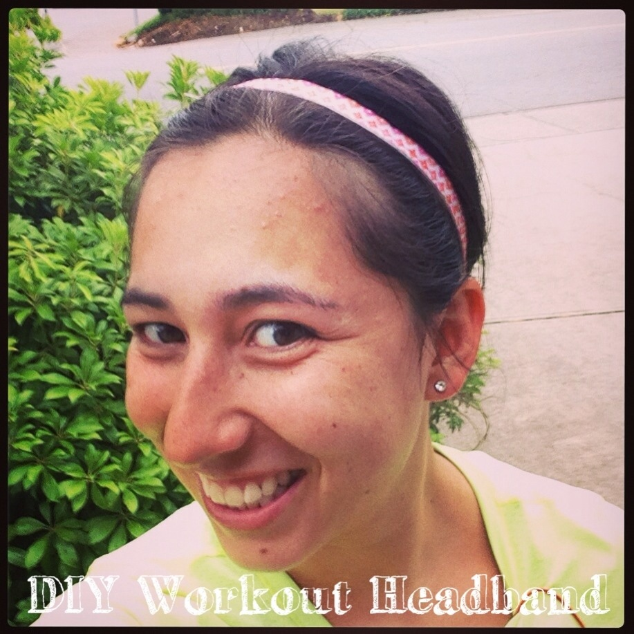 diy no slip workout headband