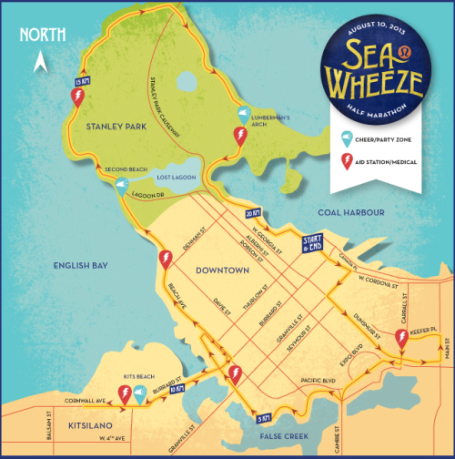 SeaWheeze Race Route