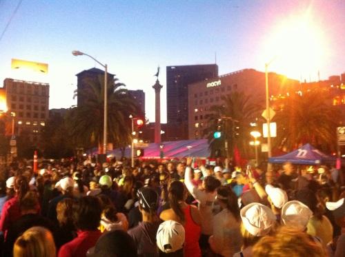 Nike Women's Marathon, Start Line