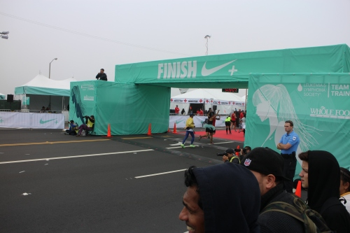 Nike Women's Marathon, Finish Line