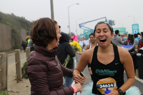 Nike Women's Marathon, Finish Line, Emotion
