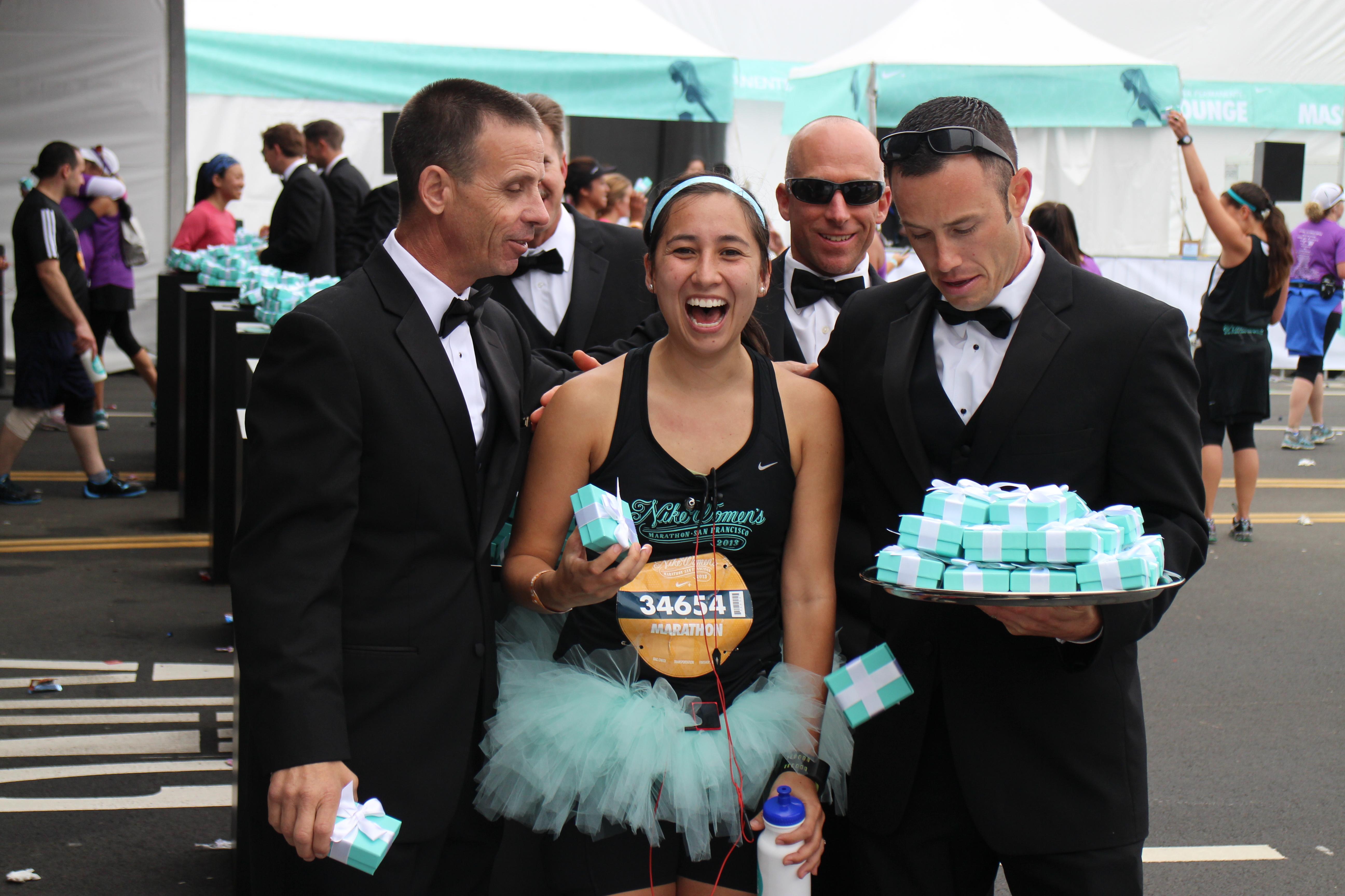 NIke Women's Marathon, Tiffany's, Firefighters, Tux